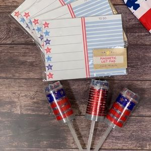 Other - Patriotic ~ Magnetic List Pad & Confetti Poppers